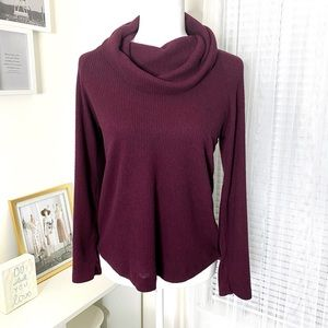 Maeve by Anthropologie Cowl Neck Burgundy Sweater